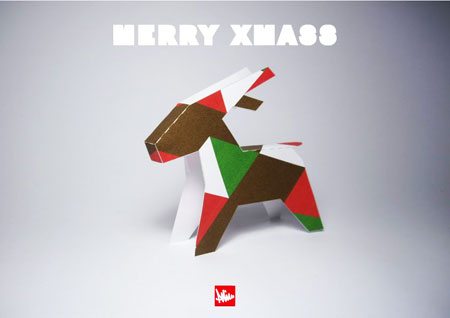 2010 Christmas Reindeer Paper Toy