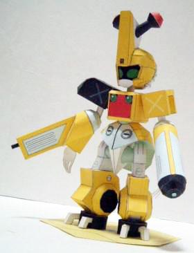 Medabots Gun-Nose Papercraft