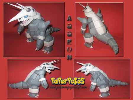 Pokemon Aggron Papercraft