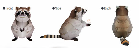 Raccoon Papercraft