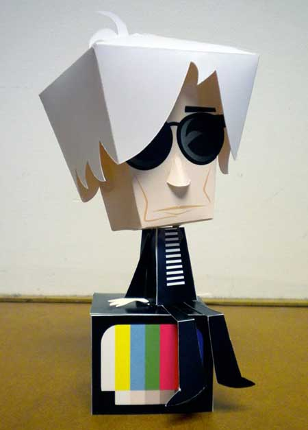 Andy Warhol Papercraft