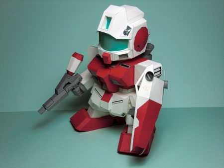 SD RGM-79GS GM Command Space Type Gundam Papercraft