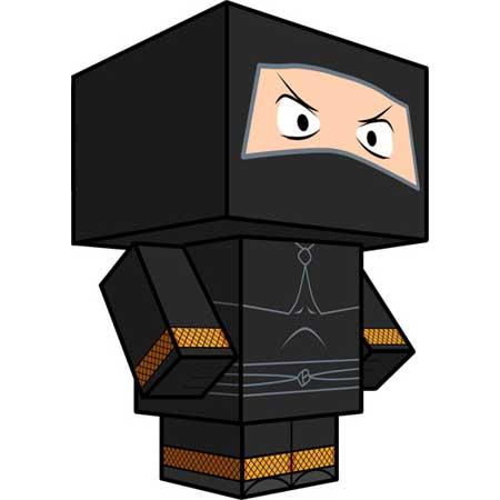 Toonzai Ninja Papercraft