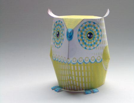 3EyedBear Owl Paper Toy