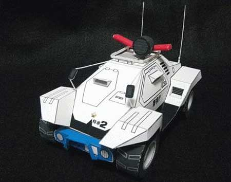 Patlabor Type 98 Command Car Paper Toy