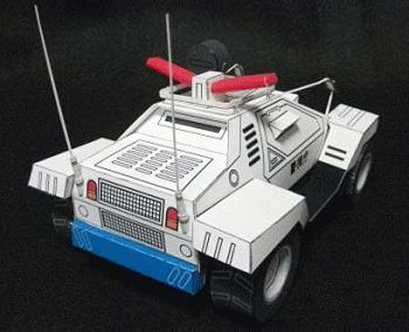 Patlabor Type 98 Command Car Paper Toy