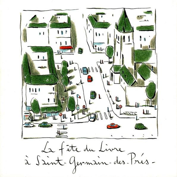 1998 11 Fête du livre à Saint-Germain des Prés invitation proclamation palmarès