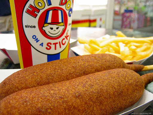 Hot dogs on sticks