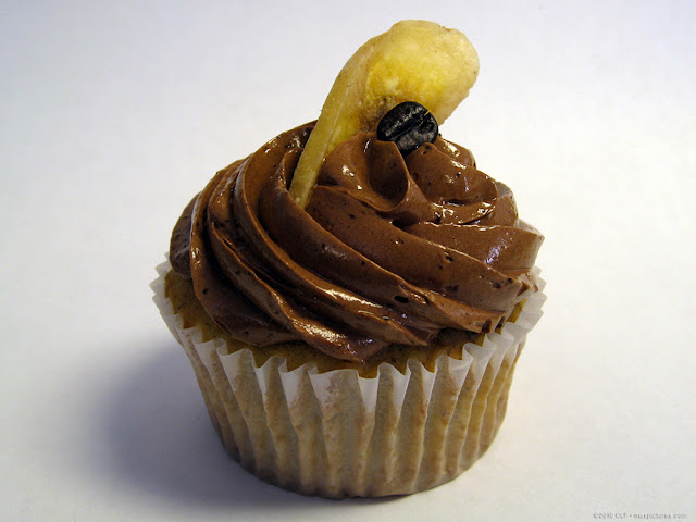 Fancy banana cupcake