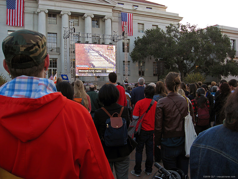Early Cal crowds for inauguration