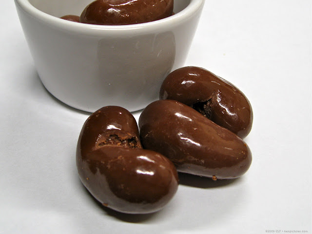 Chocolate-covered cashews, see a larger pic at maxpixpix on Picasa