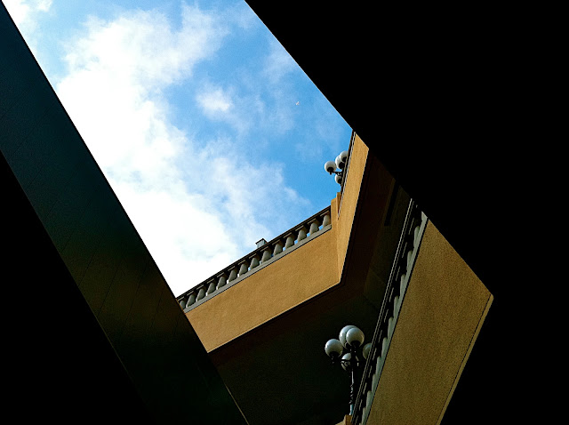 Mall, sky, and plane