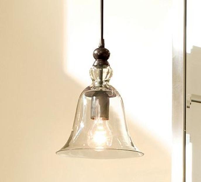 rustic glass pendant