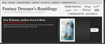 Top 3 Blogs for Urban Fantasy Readers: #2 Fantasy Dreamer's Ramblings