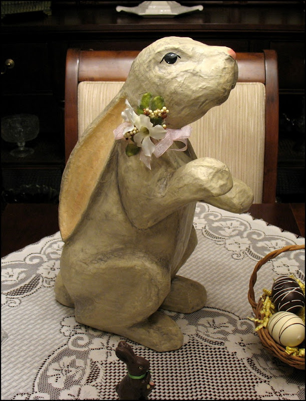 paper mache bunny