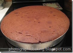 Chocolate cake all baked