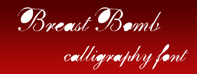 breastbomb calligrphy font