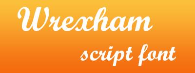 Wrexham Script calligraphic font
