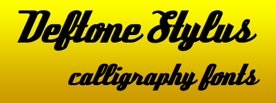 DEFTONE stylus calligraphy fonts