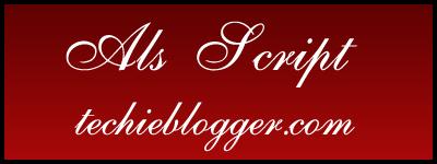 Als Script Calligraphy Font