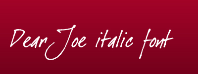 dear joe italic calligraphy font