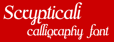 scryptically calligrpahic font
