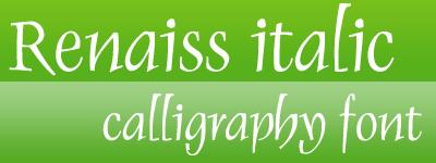 renaiss italic calligraphy font