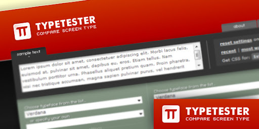 Typetester - compare fonts