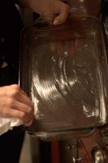 picture of greased baking dish