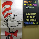Cat in the Hat and Youth Art Month Agawam Public Schools K-12 Sign