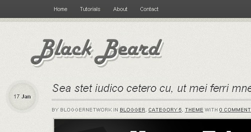 Free Black Beard Blogger Template