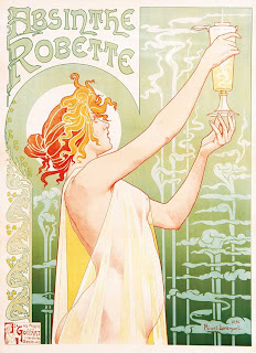 Absinthe Robette. Lithograph by Henri Privat-Livemont, 1896
