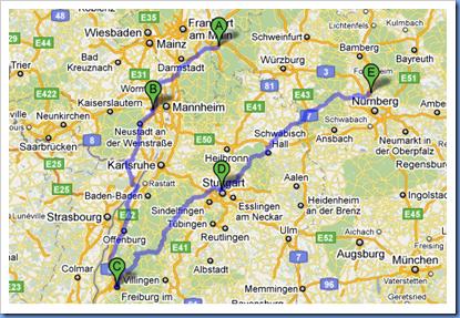 DE Sued West Trip Karte