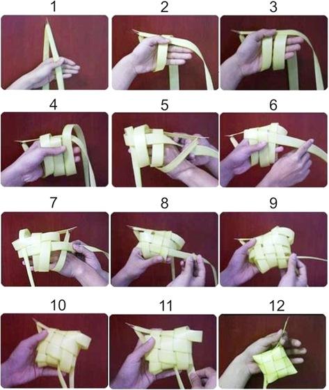 how to weave ketupat