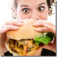 woman-eating-burger