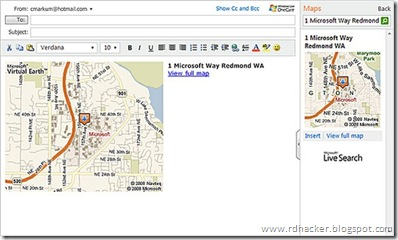 Now add maps,directions, movie times and more to e-mail in hotmail