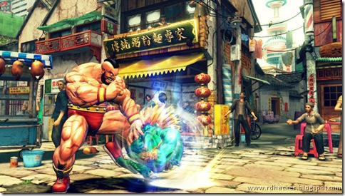 hulking Zangief vs Wild Blanka