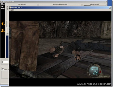 Re4 running on 3D analyser on my PC