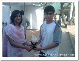 Me at techfest :) and We Won :P