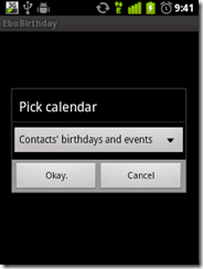 choose  calendar which you want to update.