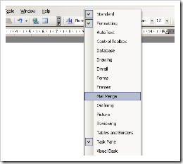 Gambar Toolbar mail merge