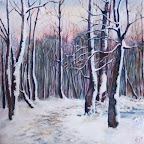 woodland Snow Painting