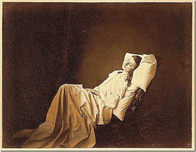 Henry Peach Robinson - She Never Told Her Love, circa 1858, Albumen print