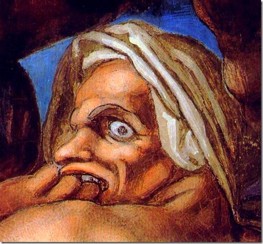 14282-last-judgment-michelangelo-buonarrotiMichelangelo di Lodovico Buonarroti Simoni, «The last Judgement» (detail)
