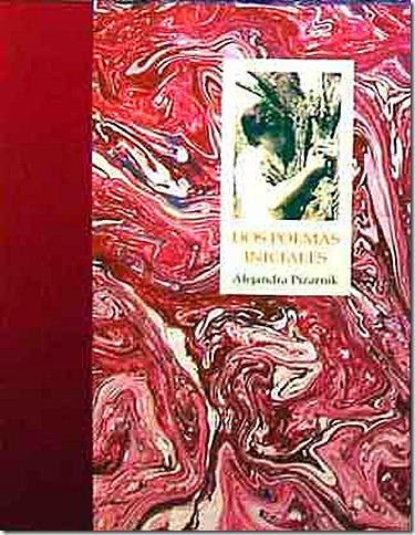 Portada del libro - Alejandra Pizarnik dos poemas iniciales,