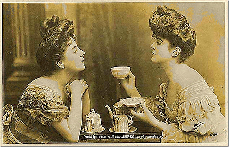 """Miss Carlyle & Miss Clarke.. The Gibson Girls"""