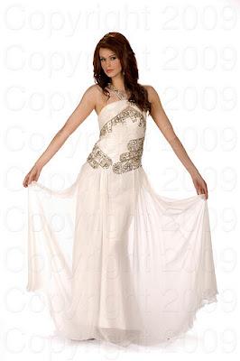 gra bretanha2 Miss Universo 2009: Inspirações para vestidos de madrinha e noiva