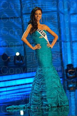 canada Miss Universo 2009: Inspirações para vestidos de madrinha e noiva