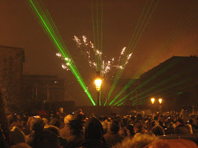 New Years Eve display at Mont des Arts, Brussels