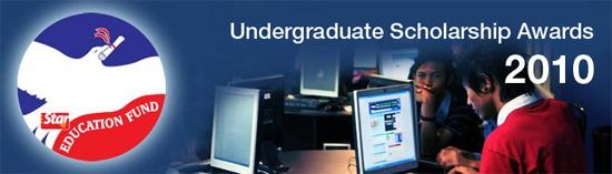 The Star Education Fund – Undergraduate Scholarship Awards 2010